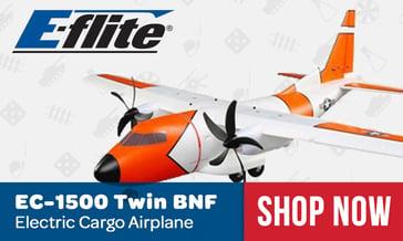 E-flite EC-1500 Twin Cargo Airplane